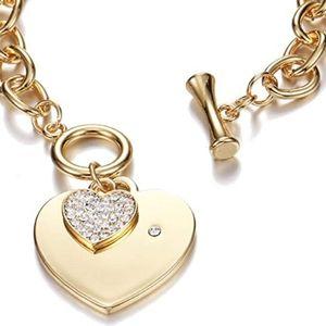 ❤Gift Alert❤ Crystal Heart Charm Link Bracelet